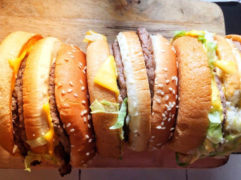 Huge size beef hamburger stock image