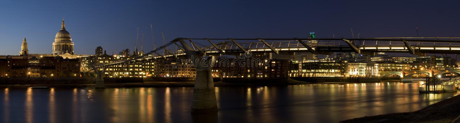 HUGE-St Paul's Cathedral at night royalty free stock image