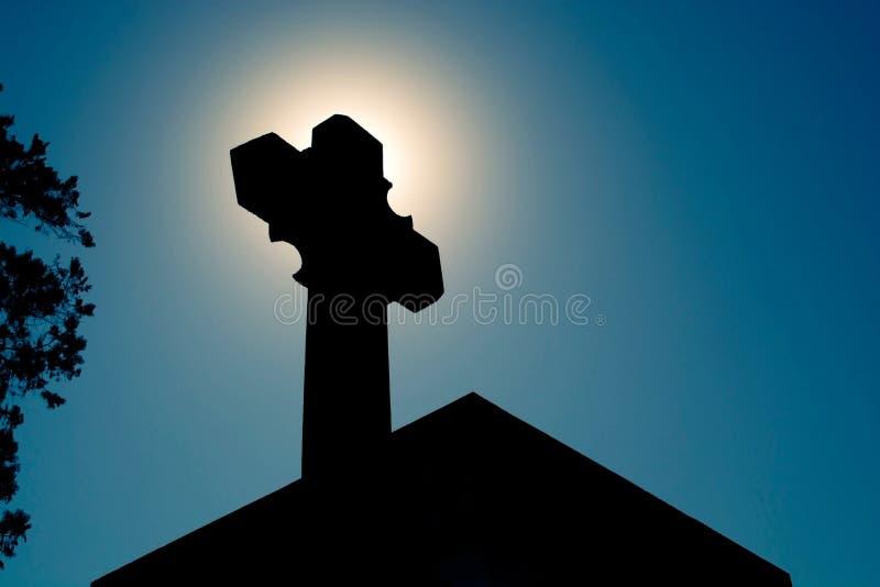Huge stone cross royalty free stock photo