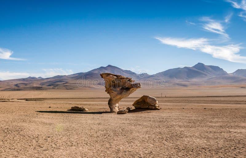 Huge stones in Bolivian desert. Huge stones among the spacious sunshine Bolivian desert stock images