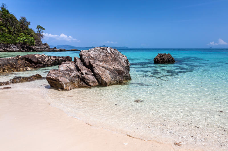 Huge stones on the seashore. Huge stones on the shore of Maiton Island, Thailand, on a sunny day stock image