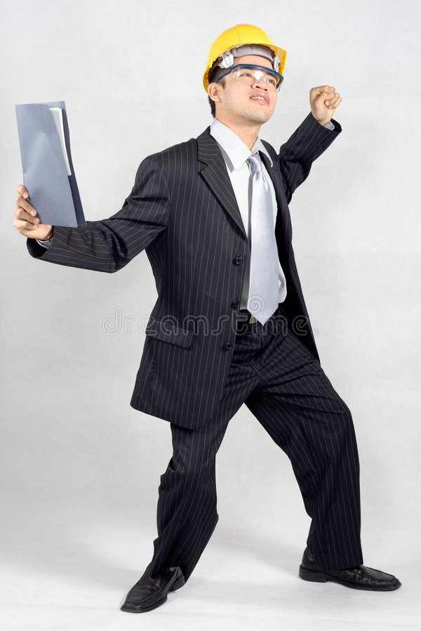 Download A huge sucess stock photo. Image of contractor, isolated - 2210004