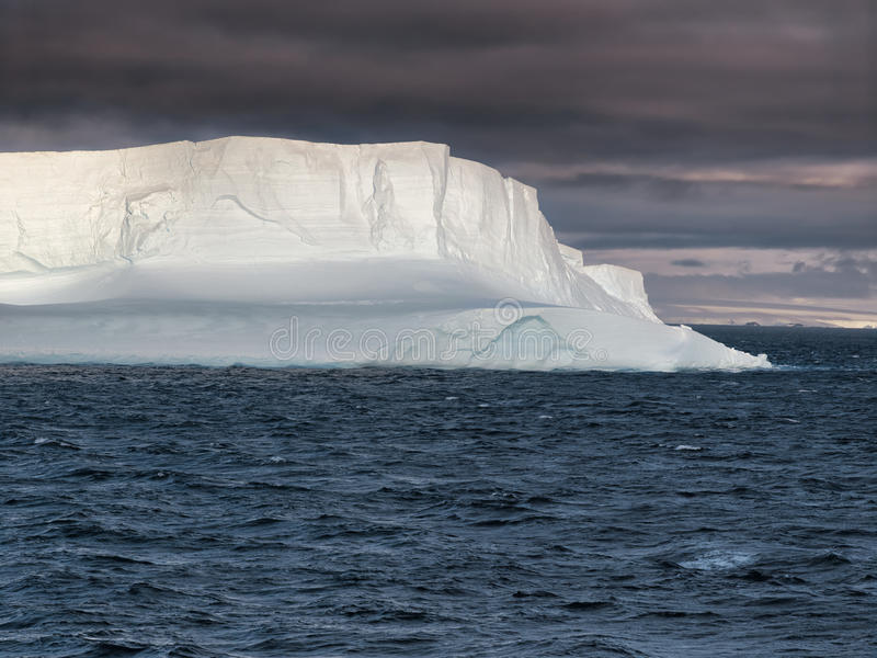 Huge Tabular Iceberg floating in Bransfield Strait, Antarctica royalty free stock photos
