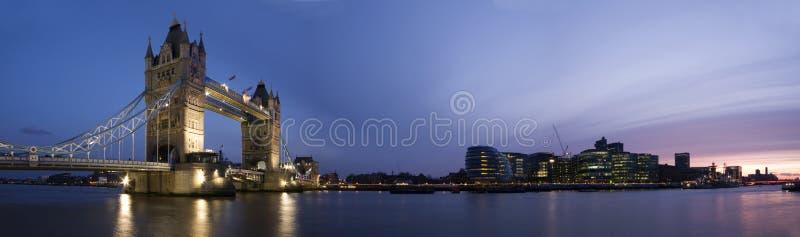 HUGE-Tower Bridge and City of London stock image