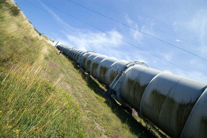 Huge water pipe. stock image