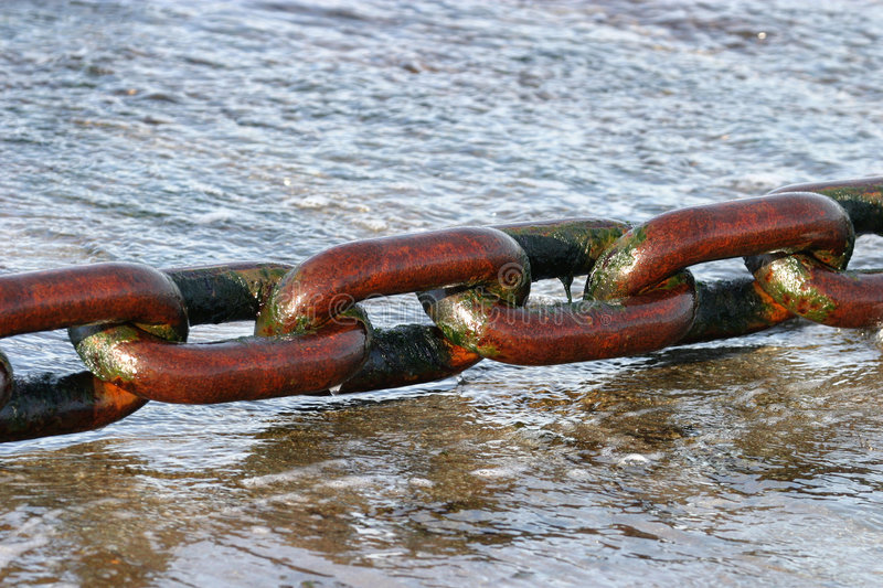 Huge Wet Ferry Chain royalty free stock photo