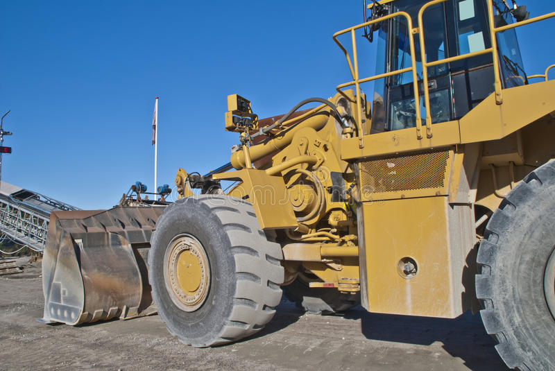 Huge Wheel Loader On Brekke Quarries Stock Photo