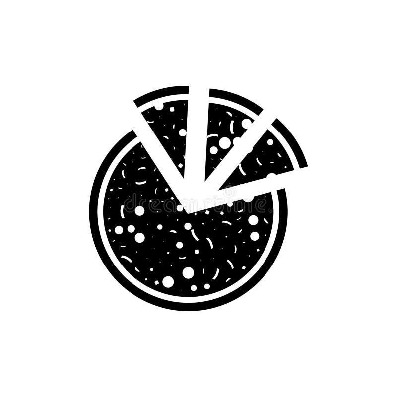 huggen av pizzaillustration Beståndsdel av partisymbolen för mobila begrepps- och rengöringsdukapps Den detaljerade högg av pizza vektor illustrationer