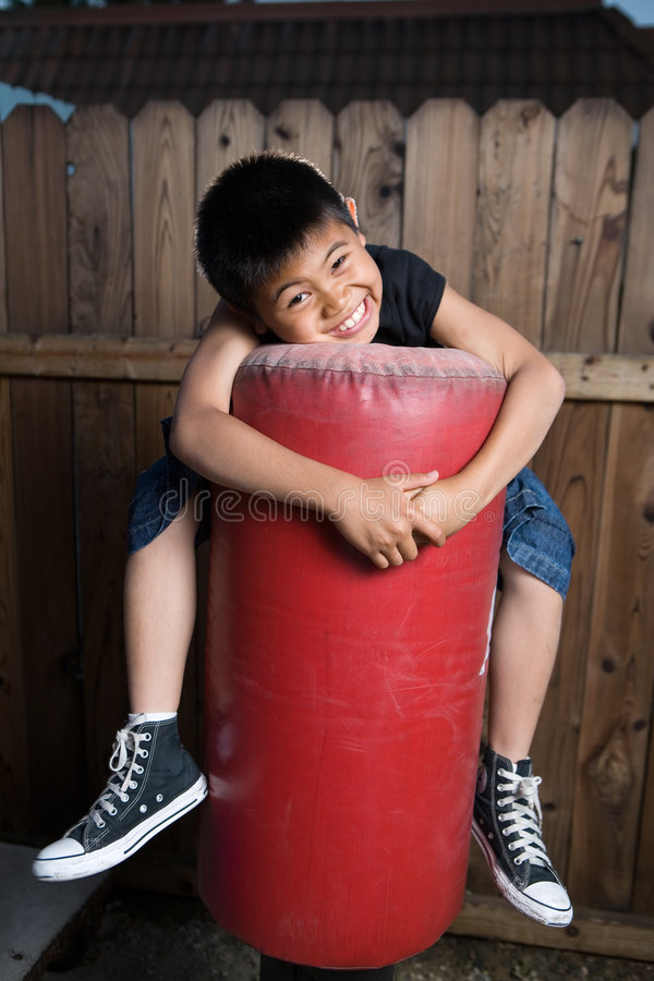 Download Hugging a bag stock photo. Image of sport, fence, fitness - 2756882