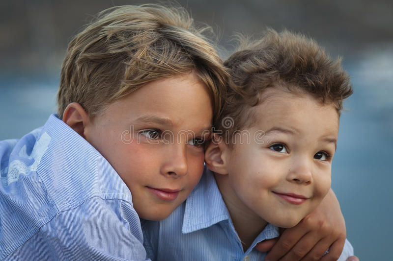Download Hugging brothers stock photo. Image of person, happy - 21440734