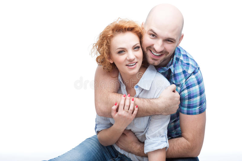 Download Hugging couple stock image. Image of caucasian, isolated - 33116833