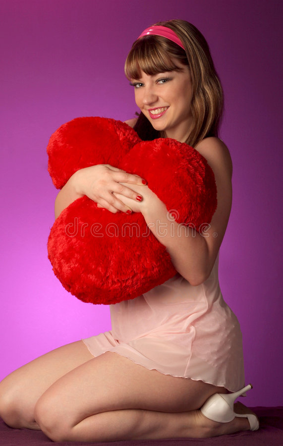 Download Hugging with heart stock image. Image of apparel, girl - 450419