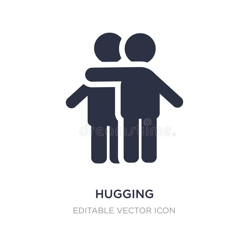 hugging icon on white background. Simple element illustration from People concept royalty free illustration