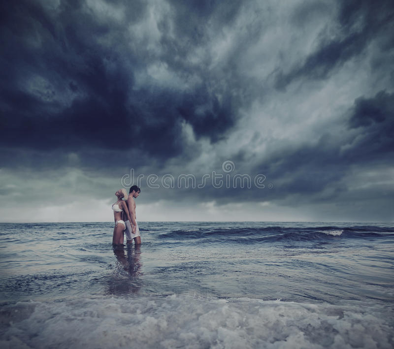 Download Hugging lovers stock image. Image of beach, emotions - 21433483