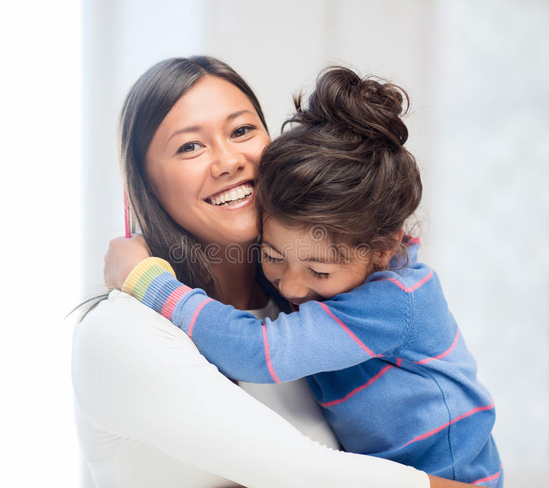 Download Hugging Mother And Daughter Stock Image - Image: 34395083