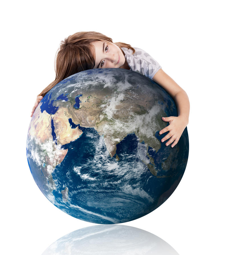 Download Hugging our world stock image. Image of holding, globe - 20294379