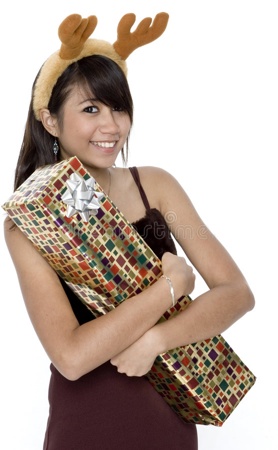 Download Hugging Present stock photo. Image of asian, looking, ears - 1420052