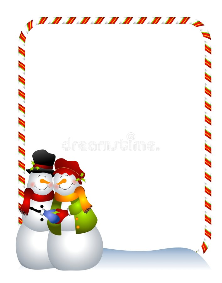 Download Hugging Snowman Border stock illustration. Image of cartoon - 6776152