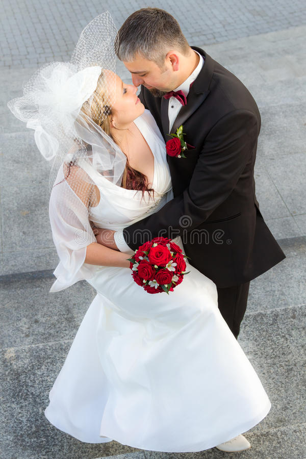 Hugging a young couple in love royalty free stock photo