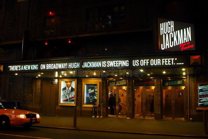 Hugh Jackman em Broadway fotos de stock