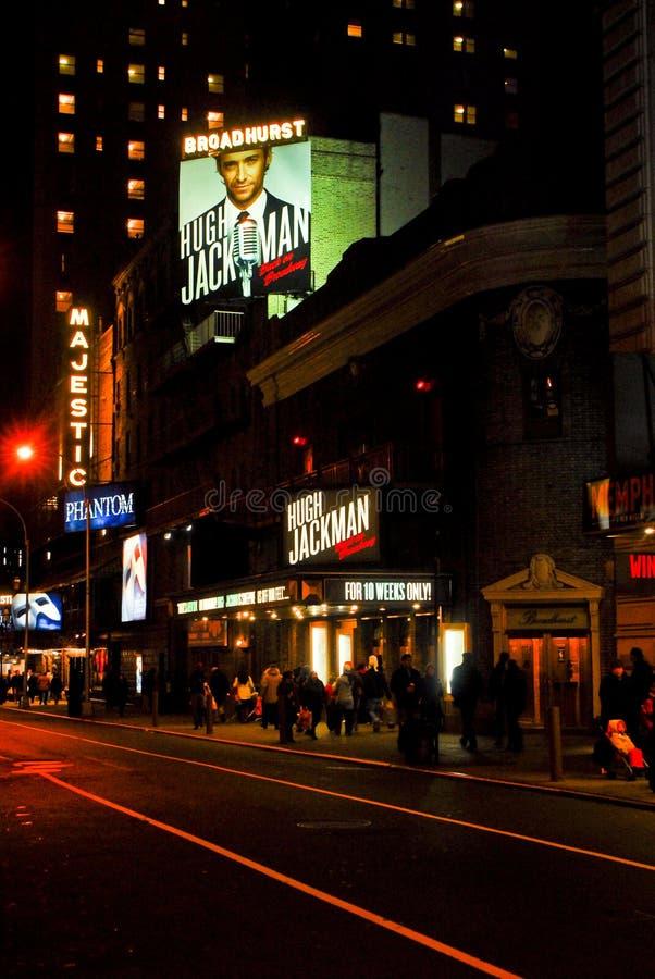 Hugh Jackman en el teatro de Broadhurst, Broadway foto de archivo