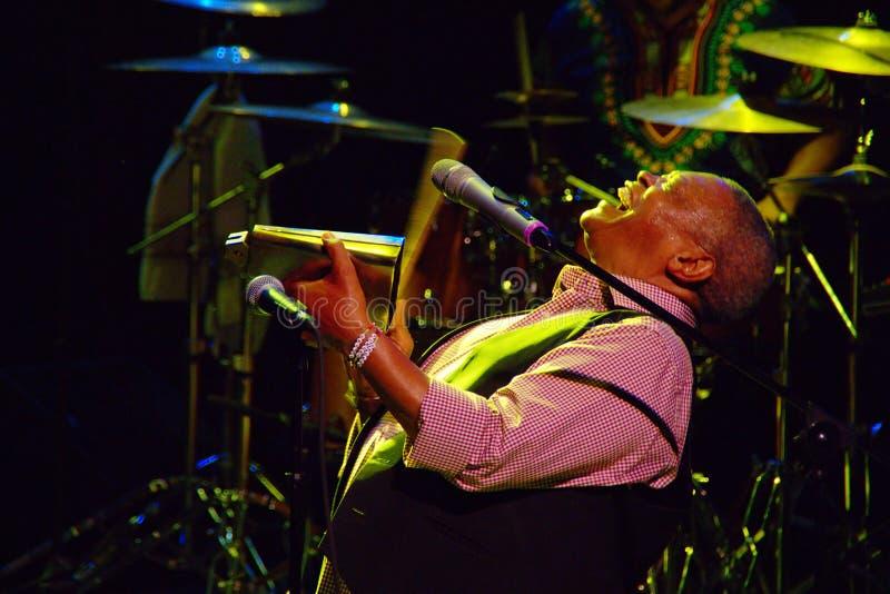 Hugh Masekela, JazzLent 2015, Maribor, Slovenia stock photo