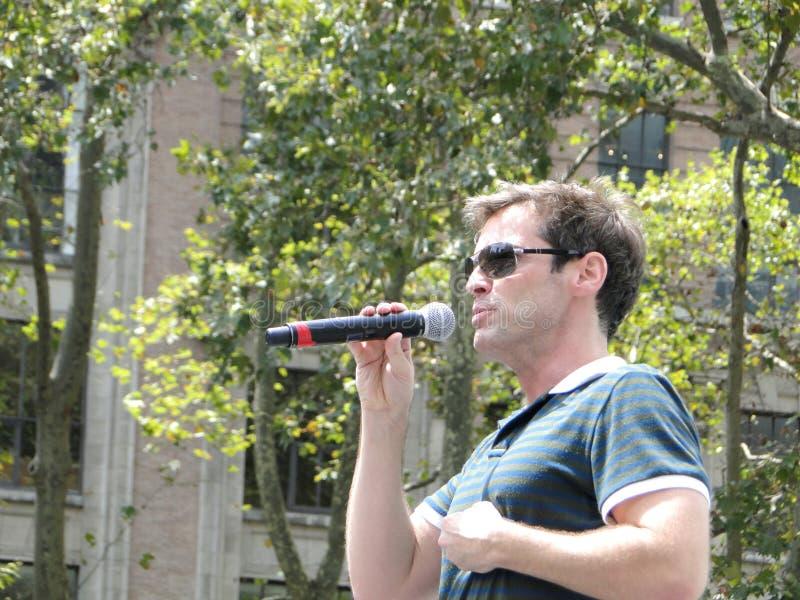 Hugh Panaro at Bryant Park stock photos