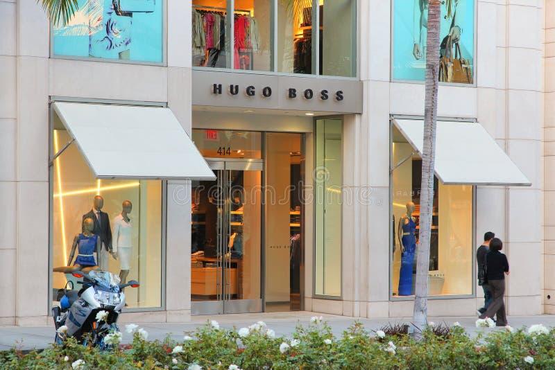 Hugo Boss Beverly Hills fotografering för bildbyråer