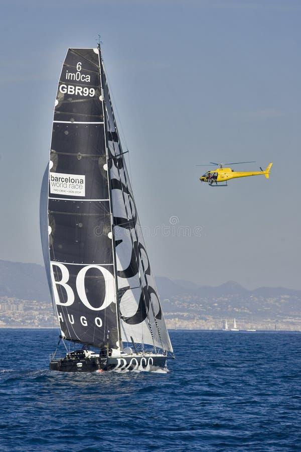 Hugo Boss boat royalty free stock images