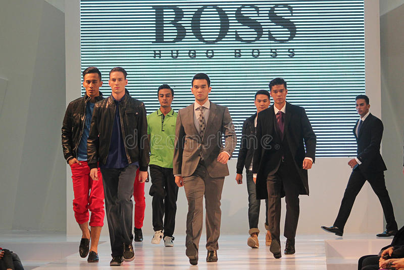 Hugo Boss Ciputra World Fashions-Woche stockfoto