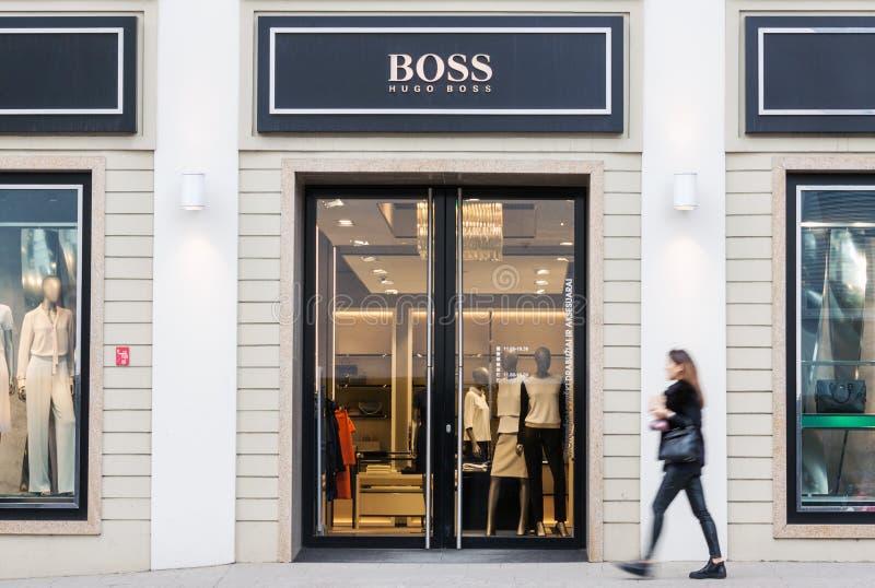 Hugo Boss façonnent la mémoire images libres de droits