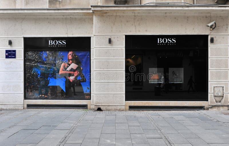 Hugo Boss Store imágenes de archivo libres de regalías