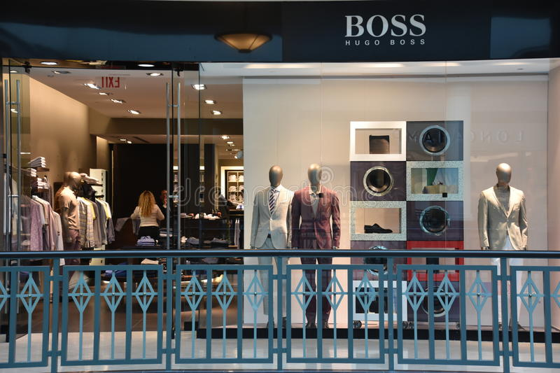 Hugo Boss store at King of Prussia Mall in Pennsylvania. USA stock images