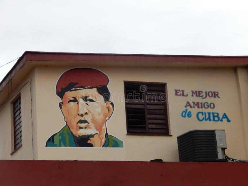HUGO CHAVEZ najlepszy przyjaciel KUBA, HAWAŃSKI, KUBA obrazy royalty free