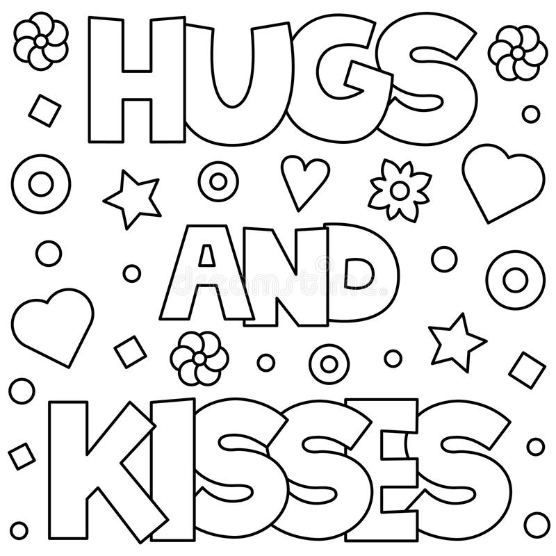 hearts and kisses coloring pages - photo#20