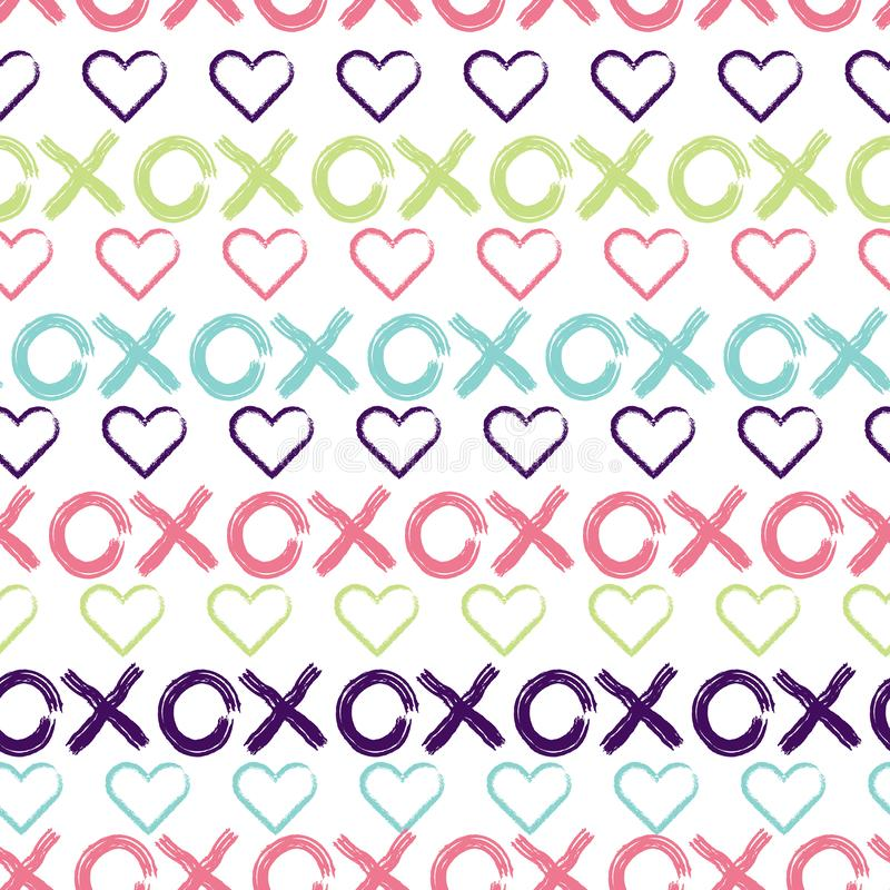 Hugs and kisses seamless pattern background. royalty free illustration