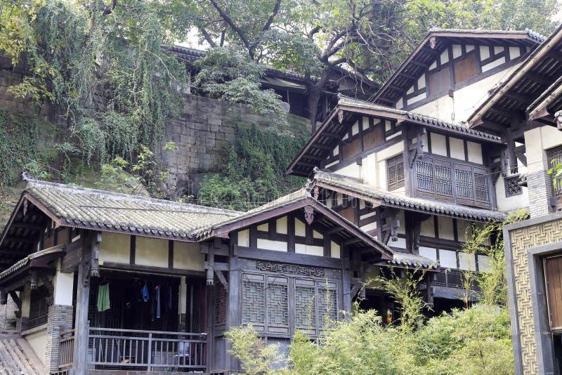 Huguanghuiguan of chongqing city. Ancient house in chongqing city, china stock photography