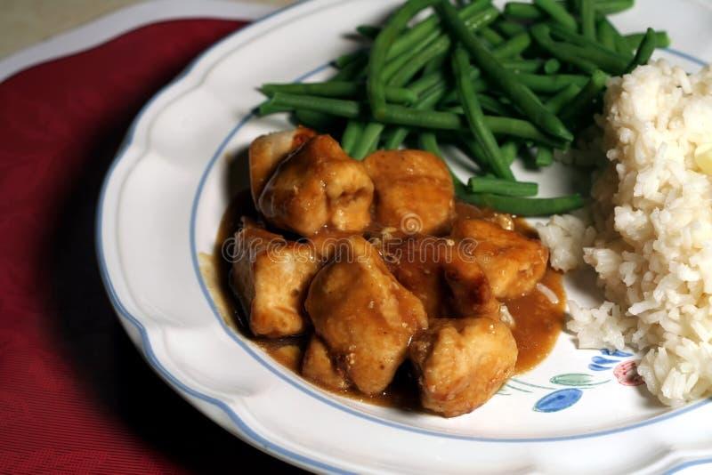 Huhn-Abendessen lizenzfreies stockfoto