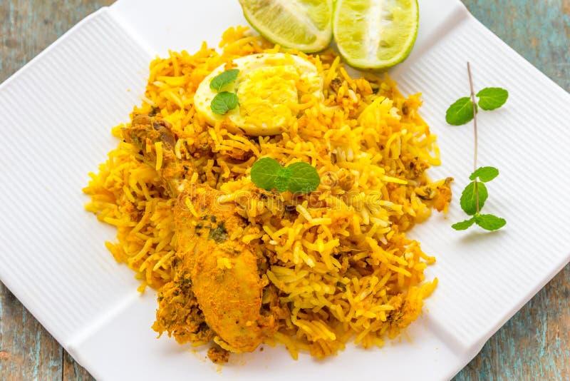 Huhn Biryani - indisches Lebensmittel lizenzfreies stockbild
