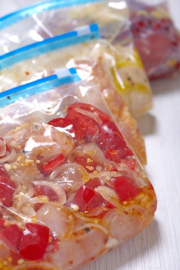 Huhn-Crockpot-Gefrierschrank-Mahlzeiten lizenzfreie stockfotografie