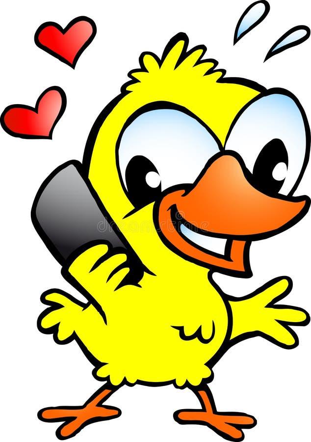 Huhn Dieses Sprechen über Mobiltelefon Stockfotos