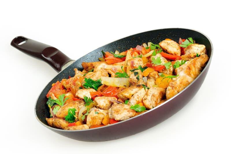 Huhn mit Gemüse stockfoto