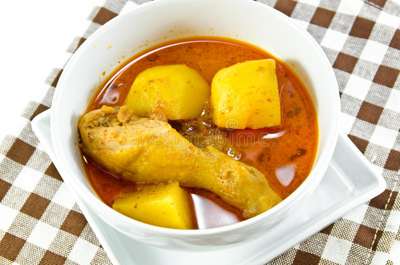 Huhn-Mussaman-Curry stockbild