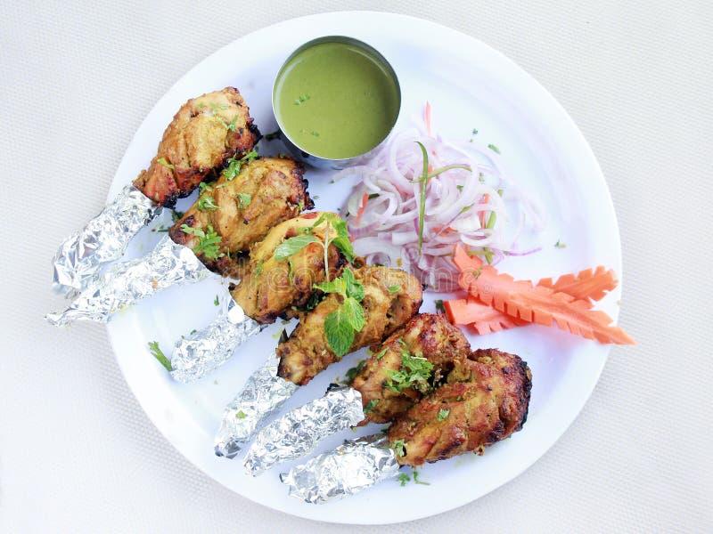 Huhn-Tangdi-kabab volle Platte lizenzfreies stockbild
