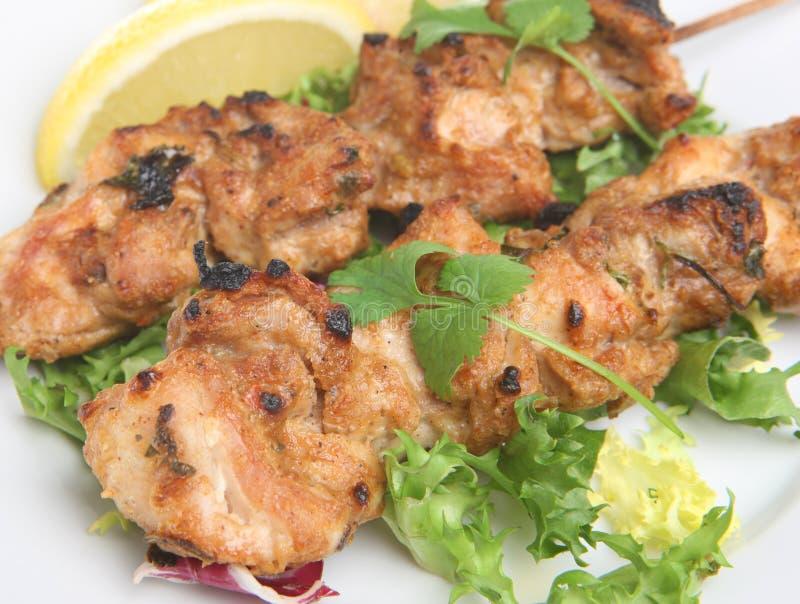 Huhn Tikka Kebabs stockfotos