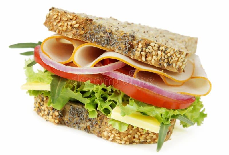 Huhn-und Salat-Sandwich lizenzfreies stockbild