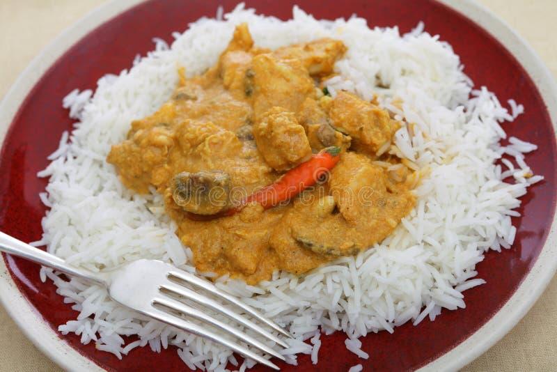 Huhnacajoubaum-Curryplatte stockfotos