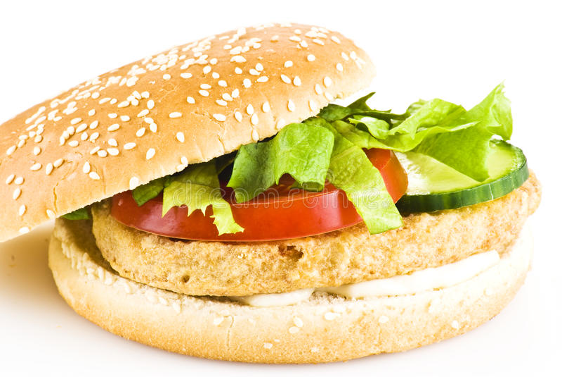 Huhnburger stockfotos