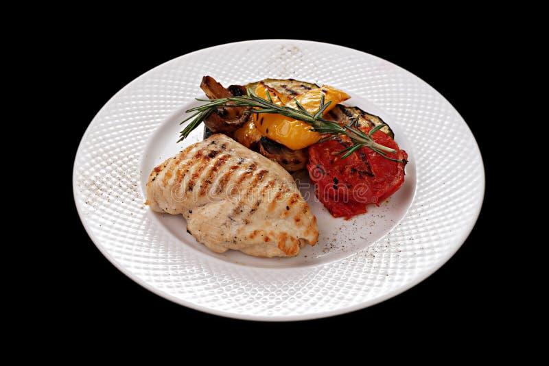 Huhnfleisch und -gemüse lizenzfreies stockbild