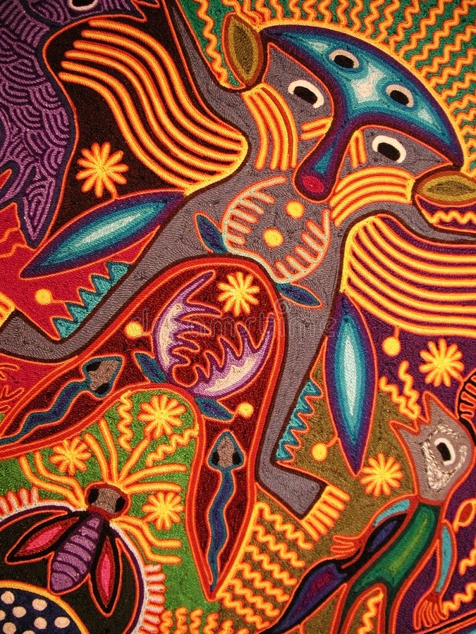 Huichol dream royalty free stock image